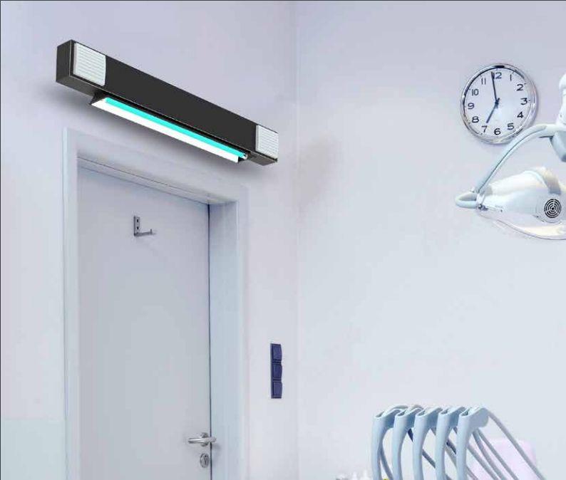Directe & indirecte UV-C oplossing. Aerosols bestrijding met UV-C desinfectie